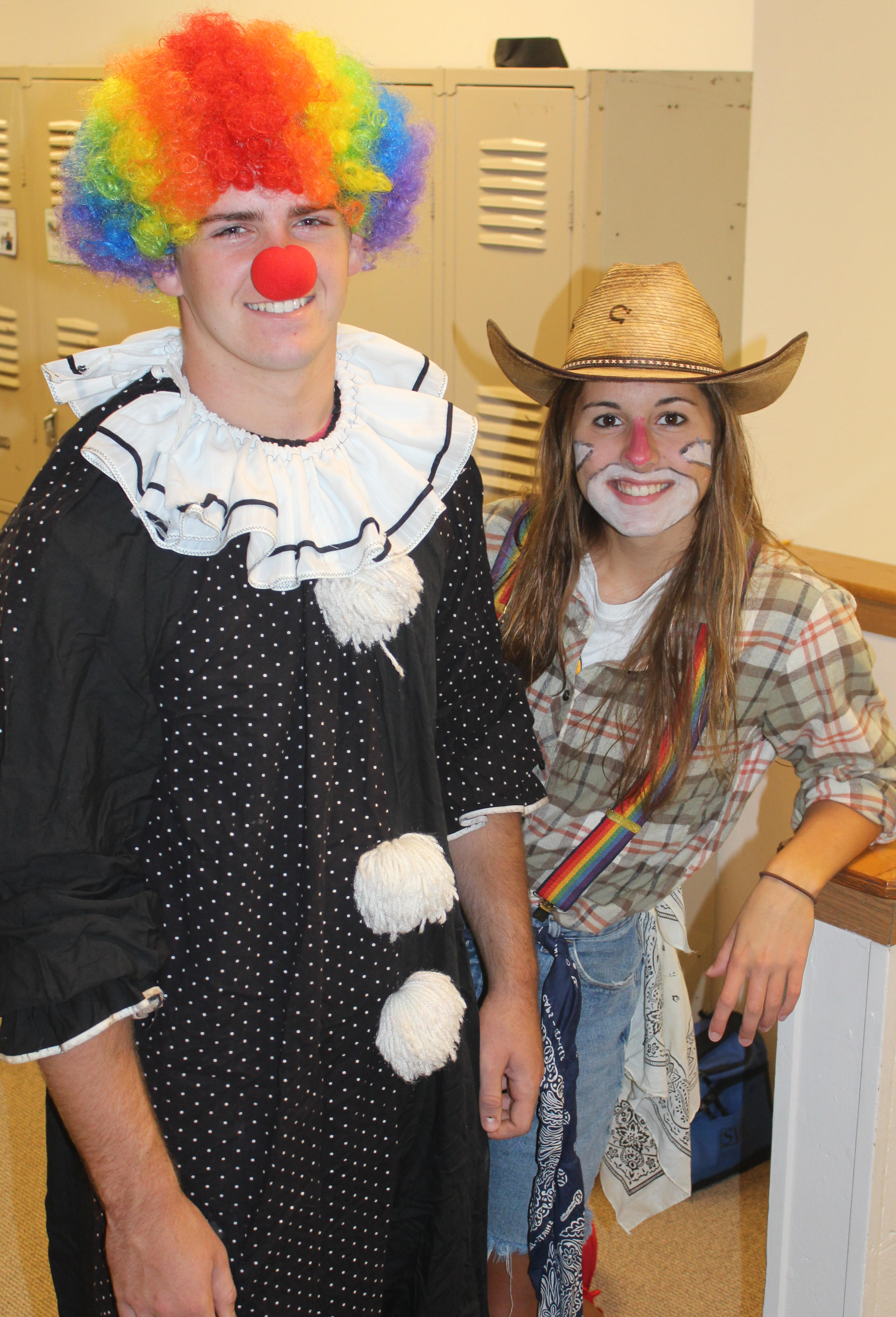 Homecoming Clown Day 2014 - Nathaniel and Kelli