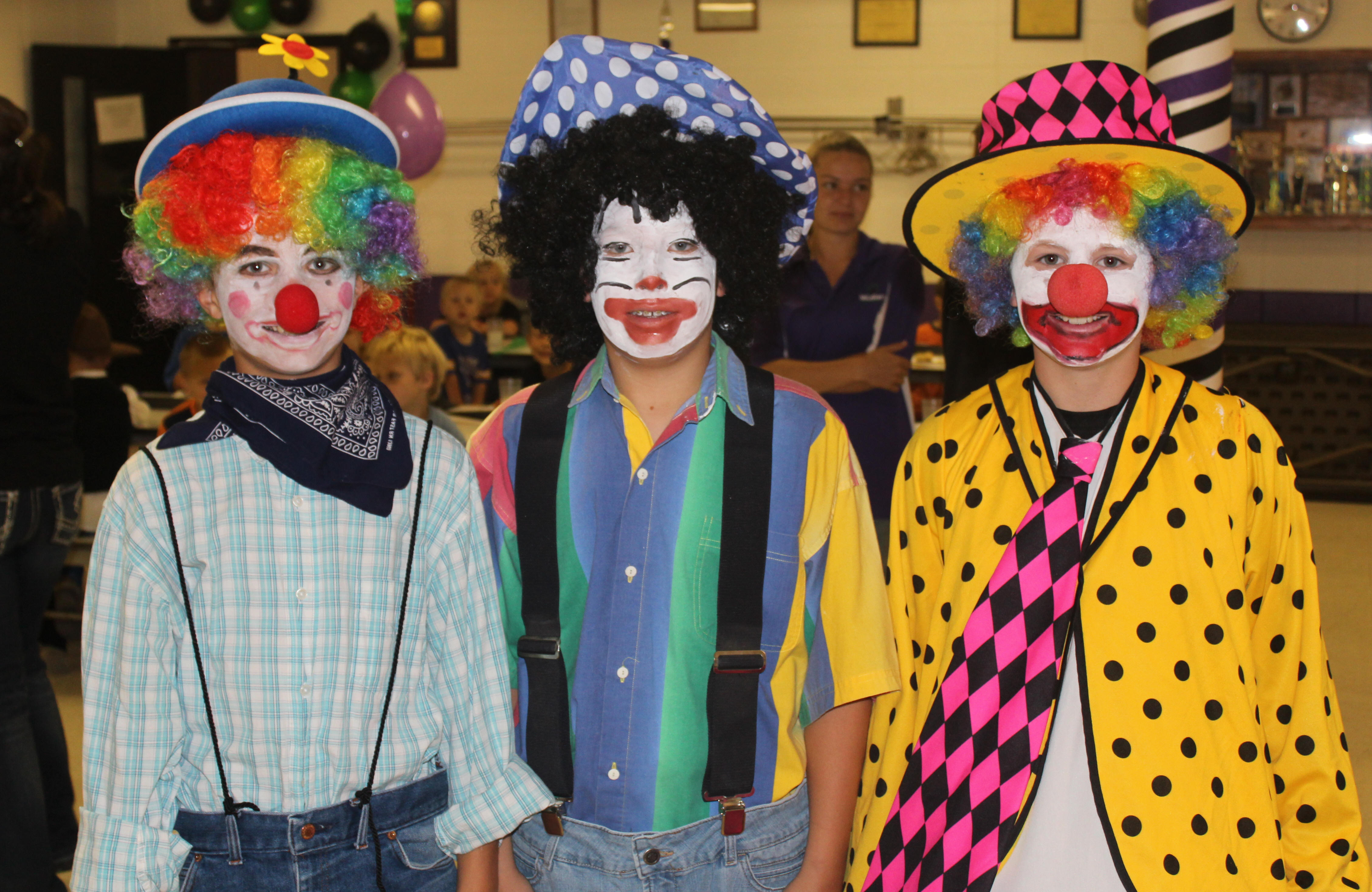 Homecoming Clowns 2014 - Levi, Nolan, Ky