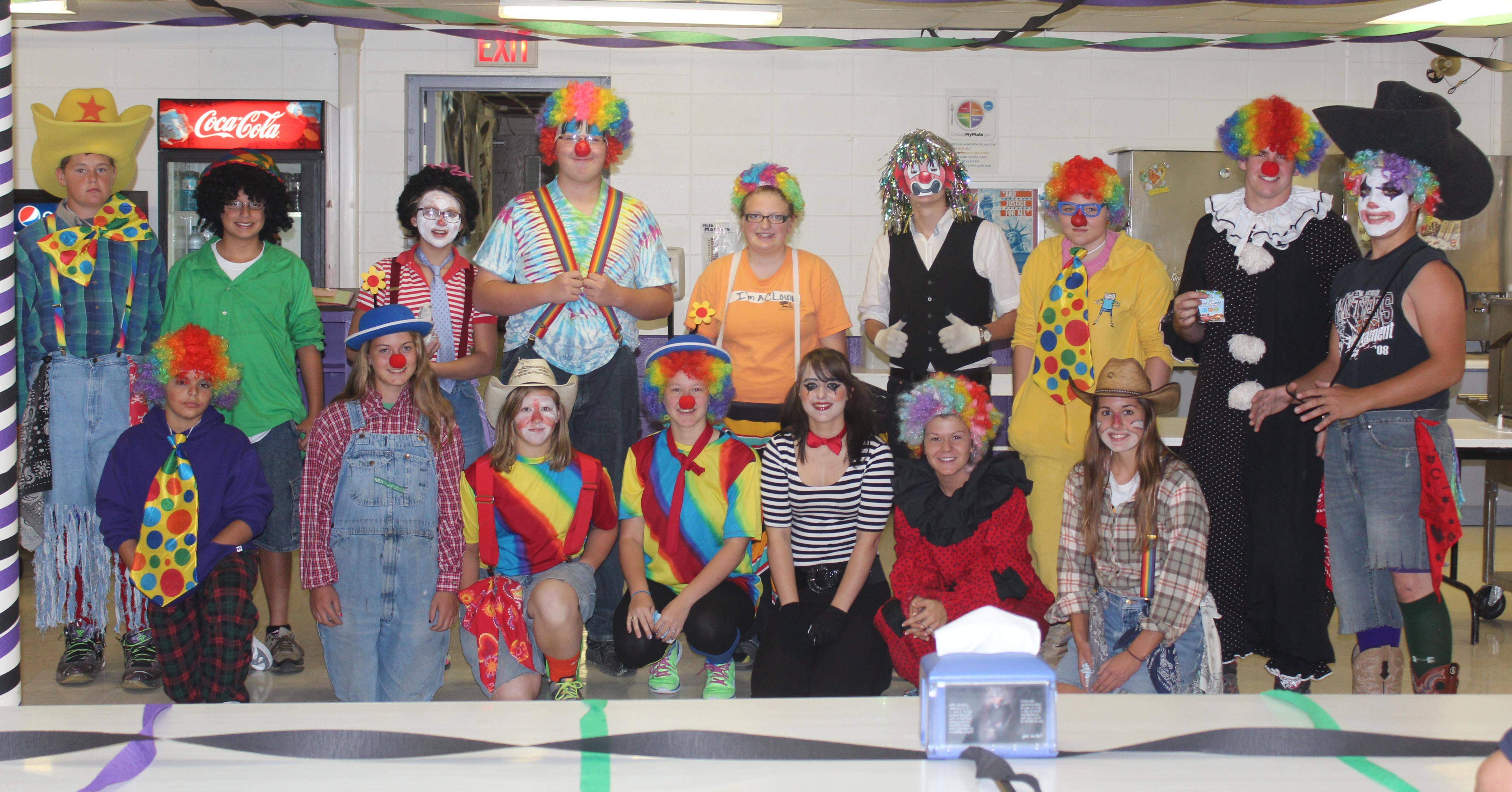 Clowns for Homecoming Week